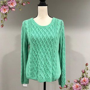 H&M pale green knit sweater